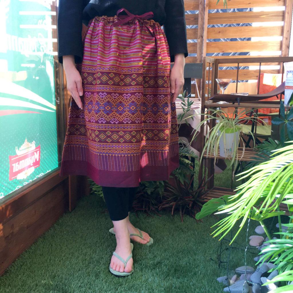 ミャンマーリメイクスカート
